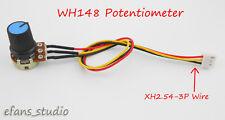 2Pcs 10K OHM Linear Taper Rotary Potentiometer B10K Pot Knob XH2.54 Wire Cable