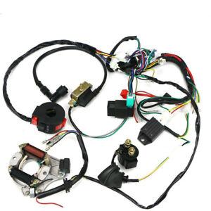 Engine Wiring Harness Loom Solenoid Rectifier CDI 50 70 90 110CC Atv Quad Bike