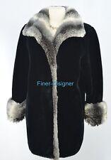 Olympia faux Mink fur black jacket Ladies Coat winter warm SZ XS Petite New VTG