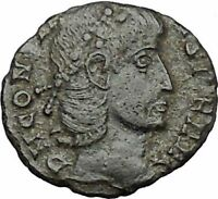 Constans Gay Emperor Constantine the Great son Roman Coin Success Wreath i50791