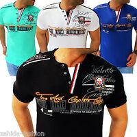 Herren T-Shirt Shirt Shirts Top Qualität Polo Party Clubwear WOW M L XL XXL NEU
