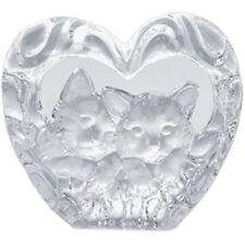 Glas Kristall Figur Katze Kätzchen Sammlerfigur Glasfigur Sammeln Herz GL279