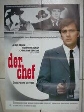 JEAN PIERRE MELVILLE: UN FLIC / Dirty Money - vintage German poster DELON 1972