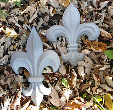 Fleur di lis plastic molds set of 2 plaster cement resin wax molds