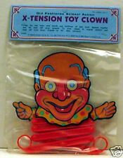 Vintage Kids Clown X-Tension Toy / Old Store Stock
