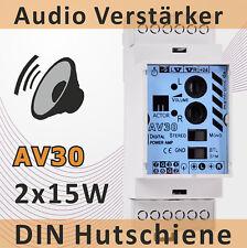 30W -2 Ch. Digital Audio Verstärker AV30 Hutschiene Verteilung 2TE