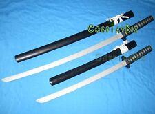 Hakuouki◆Hajime Saito Saitou 2 swords Gatotsu◆Cosplay samurai katana prop Weapon