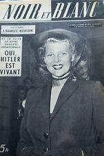 RITA HAYWORTH en COUVERTURE de NOIR et BLANC No 319 DE 1951 MARGARET TRUMAN