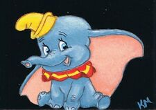 ACEO Limited Edition Print Of Original by K Maas, Disney's Dumbo, Elephant