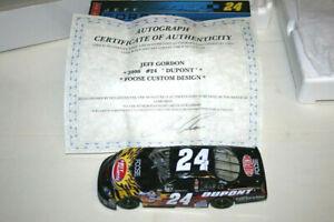 1/24 CHEVROLET MONTE CARLO JEFF GORDON SIGNED / AUTOGRAPHED COA NASCAR ACTION