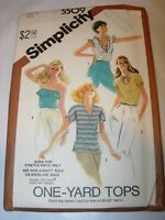 WOMENS UNCUT SIMPLICITY 5509 Sewing Pattern TOP T SHIRT KNIT SERGER SIZE 12