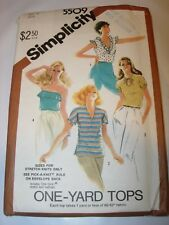 WOMENS UNCUT SIMPLICITY 5509 Sewing Pattern TOP T SHIRT KNIT SERGER SIZE 12