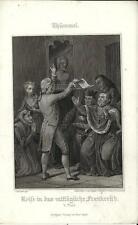 Stampa antica THUMMEL Il Cardinale contrariato 1860 Old antique print Alte stich