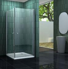BANHO 100 x 90 cm Glas Duschkabine Eckeinstieg Dusche Duschwand Duschabtrennung