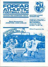 More details for 84/85 forfar athletic v motherwell (championship clincher)