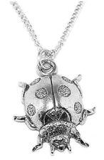 Ladybird Pendant Pewter Insect Lapel Necklace Ladybug Handmade UK Charm