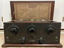New ListingBeautiful Antique Freshman Masterpiece radio vintage 5 tube broadcast receiver