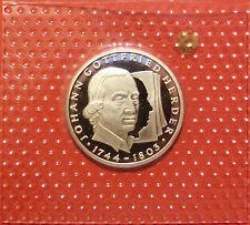 BRD 10 Deutsche Mark 1994 G Johann Gottfried Herder PP  15,5g  625er Silber