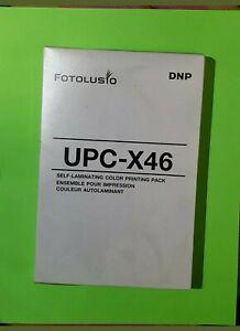 Fotolusio DNP UPC-X46 / DNP UPCX46 Self-laminating Color Printing Pack