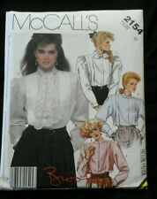 1985 McCall's 2154 Miss Size 10 Blouse Sewing Pattern