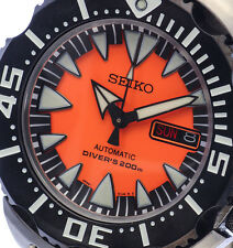 NEW MEN'S SEIKO MONSTER 200M 24 JEWEL AUTOMATIC SCUBA AIR DIVER WATCH SRP315K2
