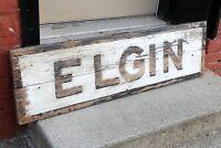 Vintage Elgin Bicycle Prewar Wood Sign Dealer Original early Elgin Watches
