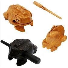 Frog Carved Wood Croaking Instrument Musical Sound Frog Handcraft With Stick Hot