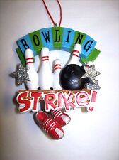 """""""Bowling Strike!"""" Bowling Pins, Ball and Dangling Shoes Ornament"""