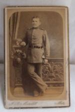 Militaria Cabinet Foto Soldat Uniform um 1900  Maroldt Metz