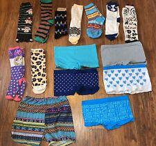 Girls Clothes Lot Socks & Boy Shorts Size M SO Cats ETC