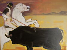 Carlo Massimo Franchi, Il Toro, olio su tela, 39.8x49.5 cm, firmato