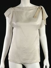 Cool Shopping Lanvin Woman Embellished Draped Satin Top Bronze Size 44 Lanvin Discount View BtUe2