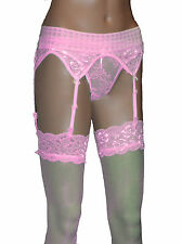 Suspender Lace Belt  and Stockings Underwear Ladies sizes S M L XL new