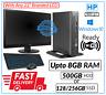 """FAST HP 800 G1 USFF PC SET Intel Core i5-4th Gen@3.10GHz Win 10 Pro 22"""" LCD WiFi"""