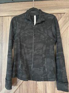 Lululemon Define Jacket*Size 8*Black Grey Camouflage*Camo