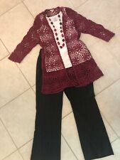 New listing Women's Outfit: (L) Sweater & Top; Nwt (14) Pants; Necklace. Euc!