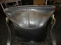 Vintage Coach 4153 Crossbody Black Leather Saddle Bag Shoulder Handbag Nice