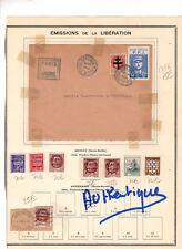 250917).LIBERATION....timbres collectionnés par le receveur des postes de THONES