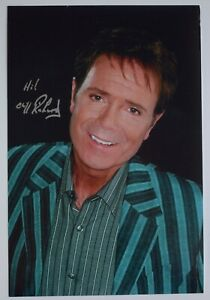 Cliff Richard Signed 12x8 Photo Autograph Music Summer Holiday AFTAL COA