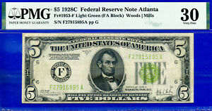 FR-1953-F - 1928-C $5 FRN (( Atlanta - L.G.S. )) PMG Very Fine 30 - F27915895A