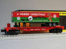 MTH RAIL KING CHRISTMAS FLATCAR 40' TRAILER O GAUGE train freight 30-76654 NEW
