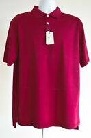 Peter Millar Crown Ease Polo Shirt Nwt Size Large Mens Burgundy Short Sleeve