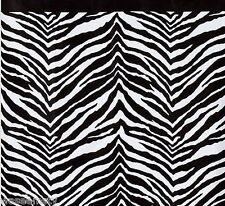Wild Safari Zebra Print Black White Bathroom Bath Shower Curtain