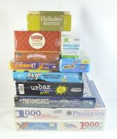 Lot Bundle 11 Board Games Puzzle Flashcards Haikubes Card Dice Scene It Foodie