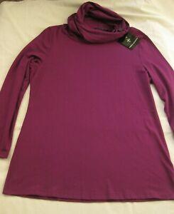 Hindahl & Skudelny Shirt Tunika  mit Kapuze Lila Gr.L(XL) neu