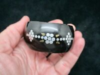 Vintage-1890 Victorian Cuff Bracelet Pique w/Silver Inlay For a TINY WRIST