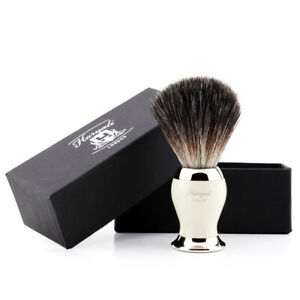 Men Shaving Brush Synthetic Bristles Wet Shave Barbers Brushes with Brass Handle