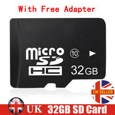 32GB Micro SD SDHC TF Memory Card Class 10 + Adapter For Mobile Phones Tablet UK