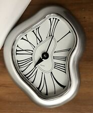 Salvador Dali Melting Clock Verichron Kirch Decor Wall Art Brushed Aluminum