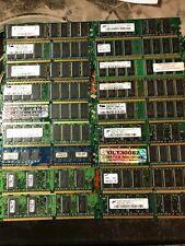 Desktop Memory Lot of 18 DDR 128MB 256MB 512MB